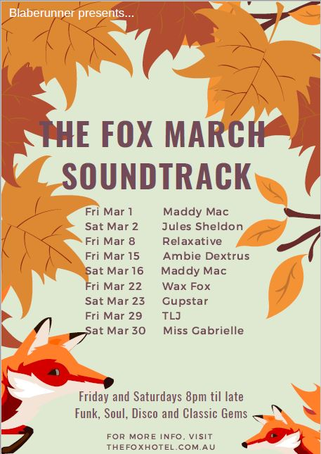 The Fox March Soundtrack poster