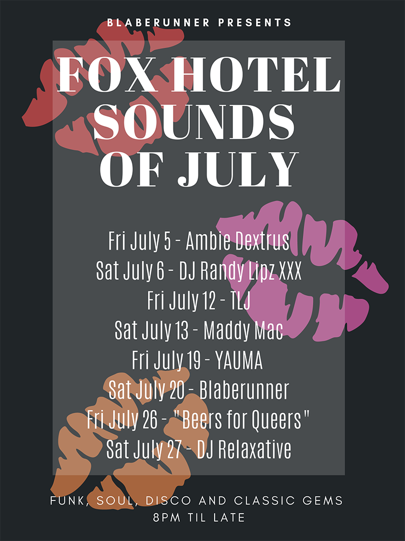 The Fox Hotel Soundtrack - July poster