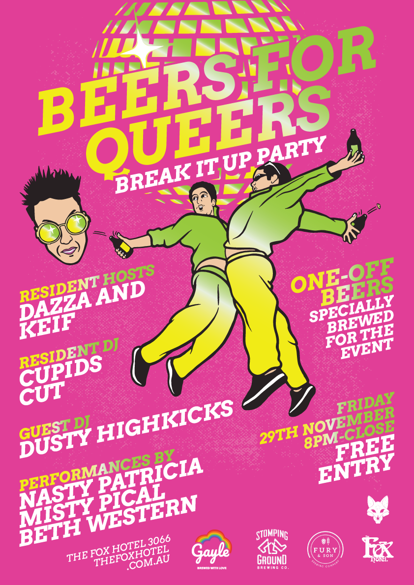 Fox Hotel - Beers For Queers poster