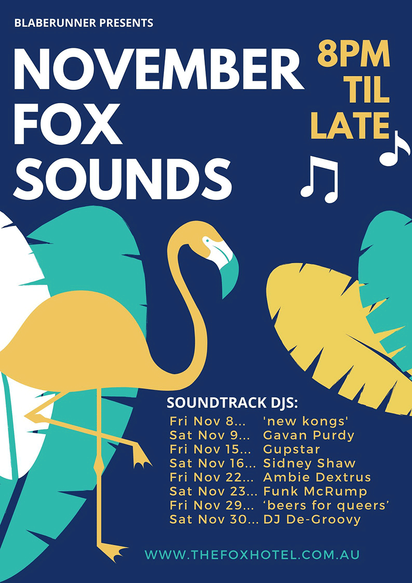 The Fox Hotel Soundtrack - November poster