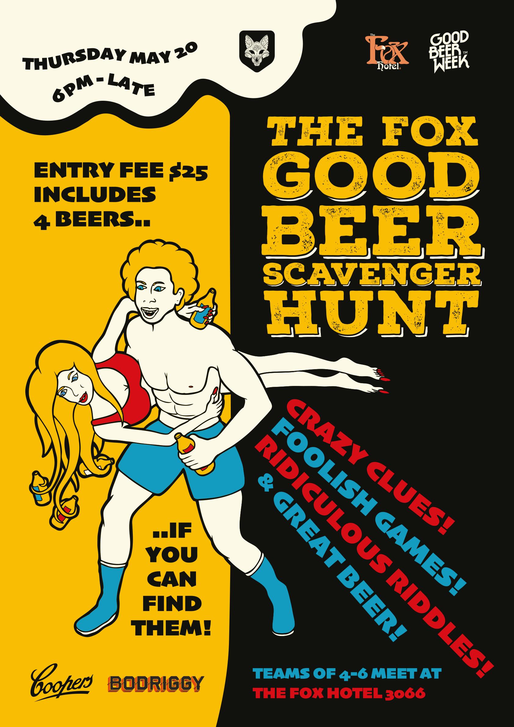 The Fox Hotel, Good Beer Week - Good Beer Scavenger Hunt
