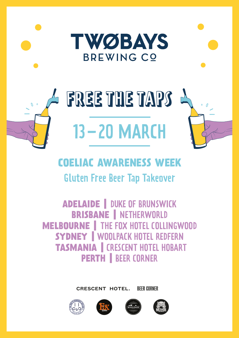 Two Bays Gluten Free Beer Tap Takeover