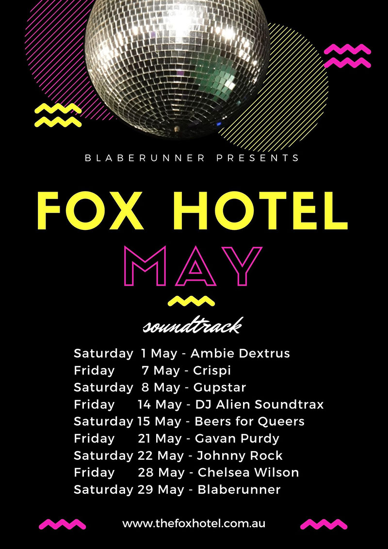 The Fox Hotel Soundtrack poster for May