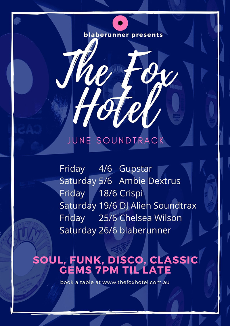 The Fox Hotel Soundtrack poster for June